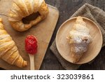 breakfast with croissant and... | Shutterstock . vector #323039861