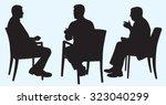 silhouette of business men... | Shutterstock .eps vector #323040299