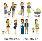 single people  couples and... | Shutterstock .eps vector #323048747