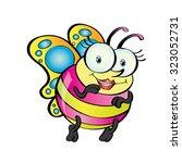 butterfly cartoon   fun loving... | Shutterstock .eps vector #323052731