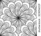 vector seamless monochrome... | Shutterstock .eps vector #323056319
