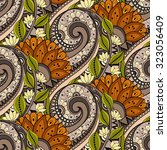vector seamless floral pattern. ... | Shutterstock .eps vector #323056409