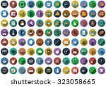 big set of circle flat design... | Shutterstock .eps vector #323058665