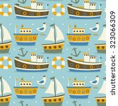 seamless cute pattern made with ... | Shutterstock .eps vector #323066309