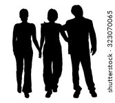 vector silhouette of people on... | Shutterstock .eps vector #323070065