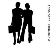 vector women silhouette on a... | Shutterstock .eps vector #323070371