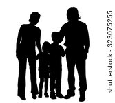 vector family silhouette on a... | Shutterstock .eps vector #323075255