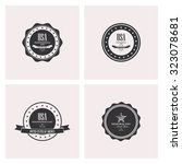 set of labels with text for... | Shutterstock .eps vector #323078681