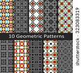 set of ten geometric patterns | Shutterstock .eps vector #323083319