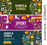 sport vector logo design... | Shutterstock .eps vector #323086691
