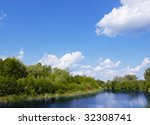 bright sunny day with clouds | Shutterstock . vector #32308741