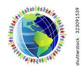 earth people world planet globe    Shutterstock .eps vector #323091539
