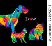 dog chihuahua vector cartoon    Shutterstock .eps vector #323092745