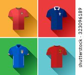 european football jersey flat... | Shutterstock .eps vector #323096189