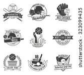 baseball cricket golf clubs... | Shutterstock . vector #323099435