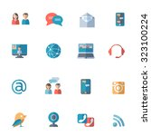 social networks with computer... | Shutterstock . vector #323100224