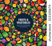 fruits and vegetables vector...   Shutterstock .eps vector #323100674