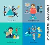 motivation design concept set... | Shutterstock . vector #323100815