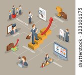 career flowchart with isometric ... | Shutterstock . vector #323101175