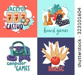 game design concept with casino ...   Shutterstock . vector #323101604