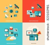 media design concept set with... | Shutterstock . vector #323102981