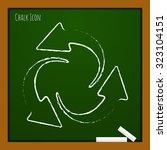 vector chalk drawn doodle... | Shutterstock .eps vector #323104151