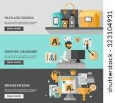 branding horizontal banner set  ...   Shutterstock . vector #323104931