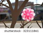paper art flower and tree | Shutterstock . vector #323111861
