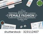 vector female fashion concept... | Shutterstock .eps vector #323112407
