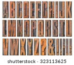 antique letterpress wood type... | Shutterstock . vector #323113625