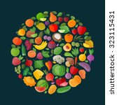 fruits and vegetables vector...   Shutterstock .eps vector #323115431