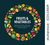 fruits and vegetables vector... | Shutterstock .eps vector #323115839