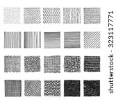set lines of ink hand drawn... | Shutterstock .eps vector #323117771