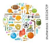 sport vector logo design... | Shutterstock .eps vector #323126729