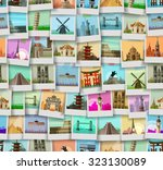 travel vector logo design... | Shutterstock .eps vector #323130089