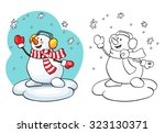 coloring book or page ... | Shutterstock .eps vector #323130371