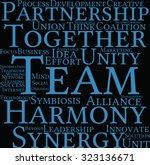 team word cloud on a black... | Shutterstock .eps vector #323136671