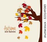 autum season design  vector... | Shutterstock .eps vector #323149385