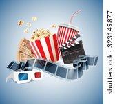 cinema 3d banner | Shutterstock .eps vector #323149877