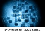 3d futuristic abstract... | Shutterstock . vector #323153867