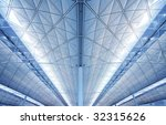 hall at airport in hong kong | Shutterstock . vector #32315626