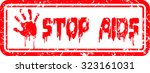 stop aids  world aids day   Shutterstock .eps vector #323161031