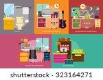 building interior | Shutterstock .eps vector #323164271
