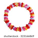 round circle colorful hawaiian ... | Shutterstock . vector #323166869