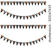 black halloween pumpkins and... | Shutterstock . vector #323167619