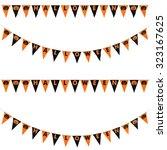 orange and black halloween... | Shutterstock . vector #323167625