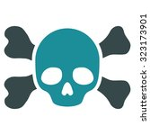skull and bones vector icon.... | Shutterstock .eps vector #323173901