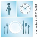 set of cooking and dinner icons.... | Shutterstock .eps vector #323176781