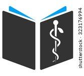 drug handbook vector icon.... | Shutterstock .eps vector #323176994