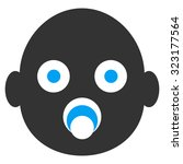 baby head vector icon. style is ... | Shutterstock .eps vector #323177564